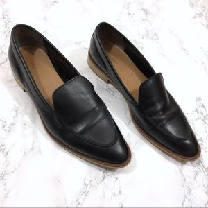 Everlane Black Modern Point Toe Leather Loafer